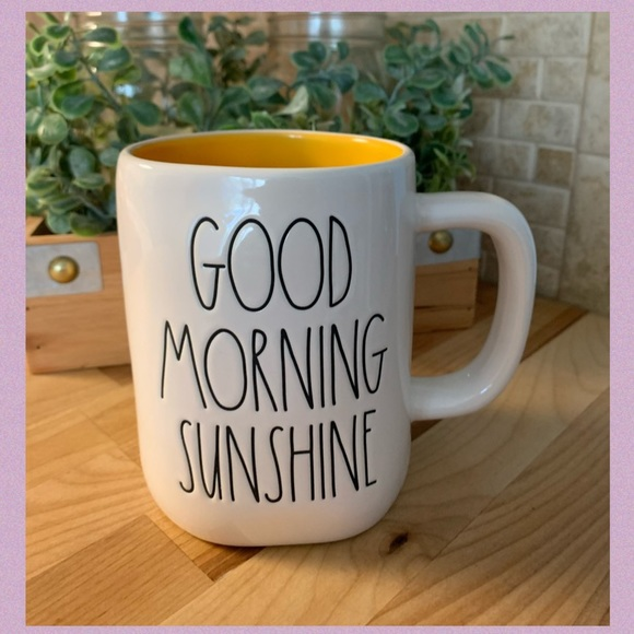 "RAE DUNN ""GOOD MORNING SUNSHINE"" LL CERAMIC MUG"